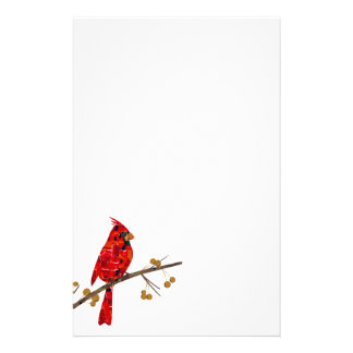 Papelería Mosaico cardinal rojo