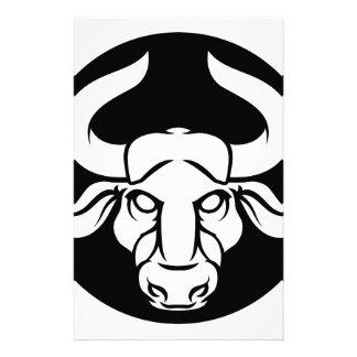 Papelería Muestra de la astrología del zodiaco de Bull del