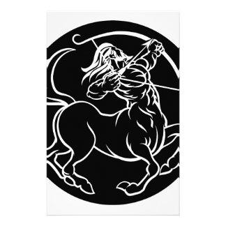 Papelería Muestra del zodiaco del Centaur del sagitario del