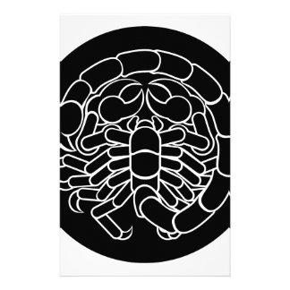 Papelería Muestra del zodiaco del escorpión del escorpión
