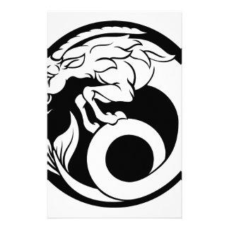 Papelería Muestra del zodiaco del horóscopo del Capricornio
