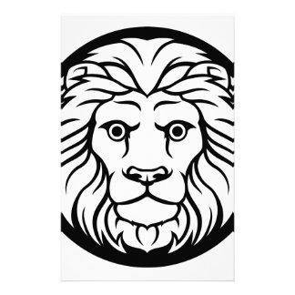 Papelería Muestra del zodiaco del león de Leo