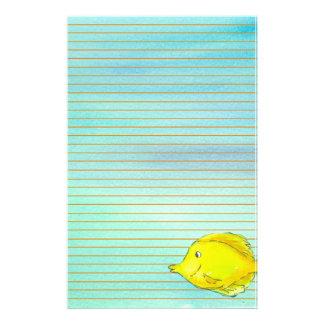 Papelería Naranja tropical amarillo de los pescados de Tang