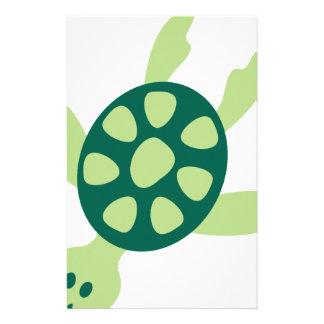 Papelería Natación de la tortuga verde