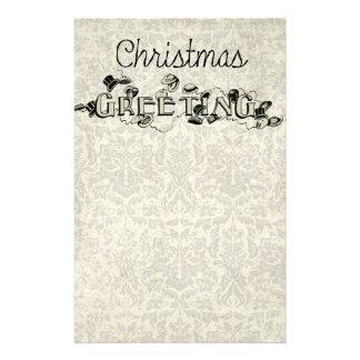 Papelería Navidad de la apariencia vintage que saluda