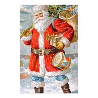 Papelería Navidad patriótico americano magnífico Santa