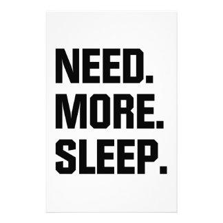 Papelería Necesite más sueño