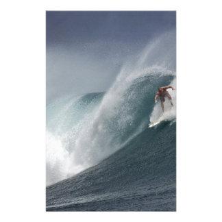 Papelería Onda abstracta del mar que practica surf