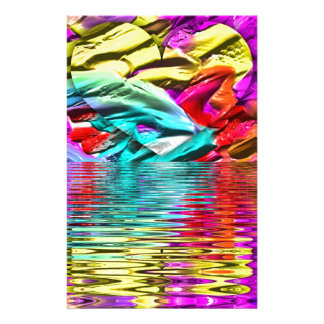 Papelería Ondulaciones abstractas en colores pastel en flor