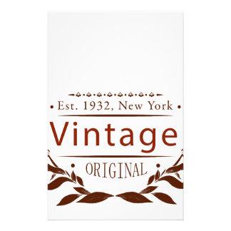Papelería original del vintage