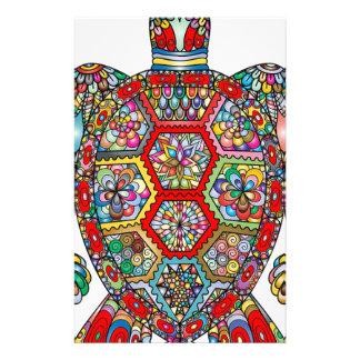 Papelería Ornamental decorativo de las flores florales de la