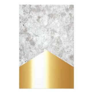 Papelería Oro concreto #372 de la flecha