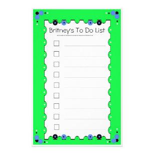 Papelería Para hacer la lista inmóvil