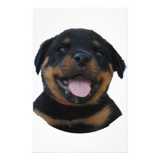 Papelería Perrito masculino feliz de Rottweiler