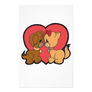 Papelería Perritos en amor