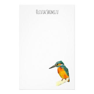 Papelería Pintura de la acuarela del pájaro del martín