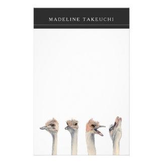 """Papelería """"Pintura divertida de las avestruces de la reina"""
