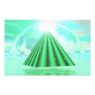 Papelería Pirámide mística - 3D rinden