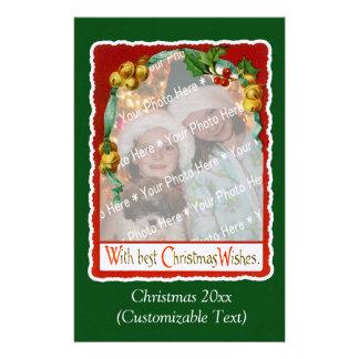 Papelería Plantilla de la foto de los deseos del navidad del