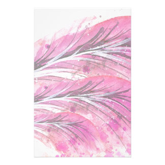 Papelería plumas, color de rosa ligero, elegante,