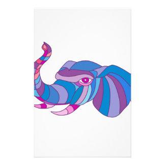 Papelería Polígono bajo lateral principal del elefante