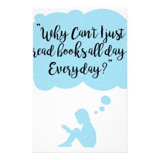Papelería Porqué no pueda apenas leo diario de los libros