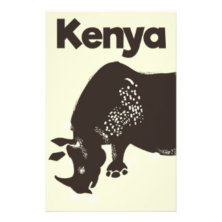 Papelería Poster africano del vintage del rinoceronte de