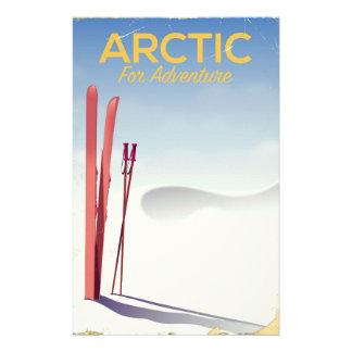 Papelería Poster ártico de la exploración de la aventura del