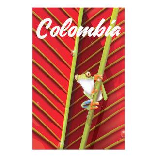 Papelería Poster del viaje de la rana arbórea de Colombia