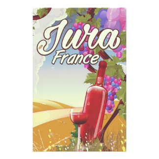 Papelería Poster del viaje del viñedo del Jura Francia