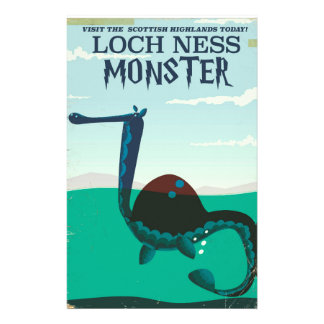 Papelería Poster divertido del viaje del monstruo de Loch