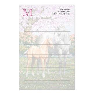 Papelería Potro del Palomino y caballo gris
