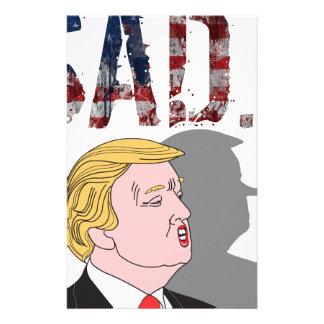 Papelería Presidente anti triste sarcástico divertido Donald