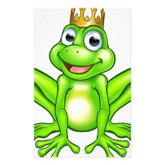 Papelería Príncipe de la rana del dibujo animado
