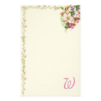 Papelería Ramo floral del monograma de W