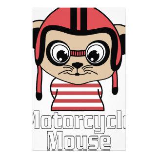 Papelería Ratón de la motocicleta, diseño del vintage del