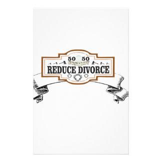 Papelería reduzca la custodia 50 del divorcio 50