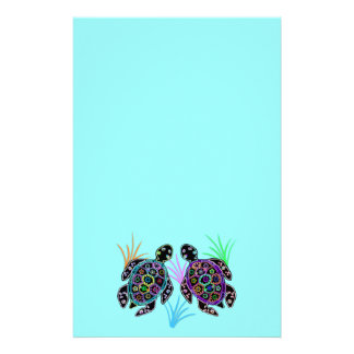 Papelería Resplandor de la tortuga de mar