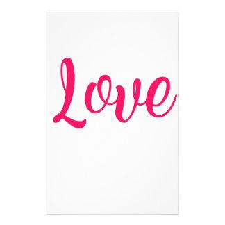 Papelería Rosa del amor