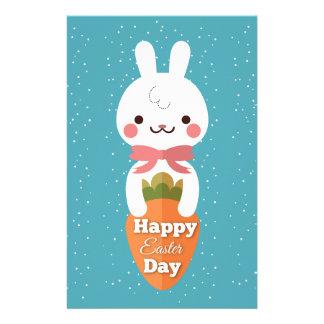 Papelería Saludos lindos de pascua del conejo de conejito