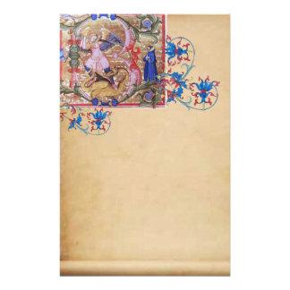 Papelería San Miguel el pergamino floral de la antigüedad