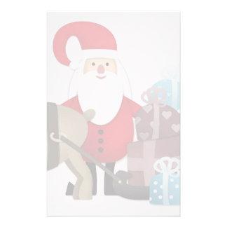 Papelería Santa y su reno con los regalos