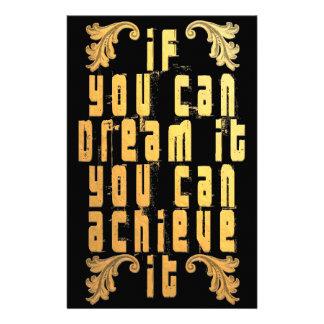 Papelería Si usted puede soñarlo usted puede alcanzarlo