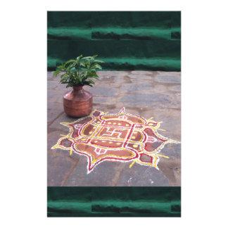 Papelería Símbolos indios del boda del rangoli de la cruz