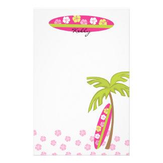 Papelería Tabla hawaiana del hibisco