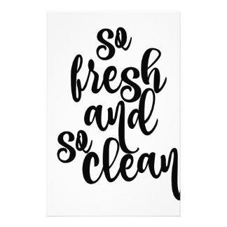 Papelería Tan fresco y tan limpio