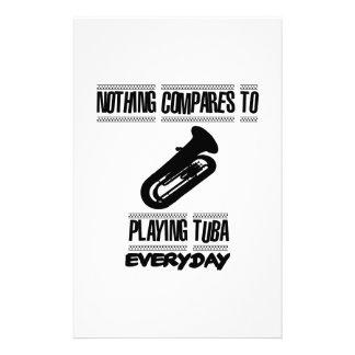 Papelería Tender diseños del jugador de la tuba