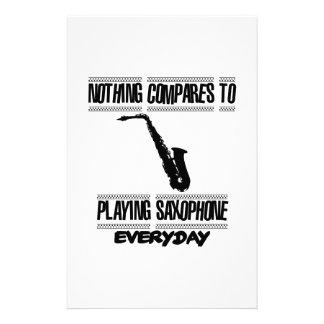 Papelería Tender diseños del saxofón