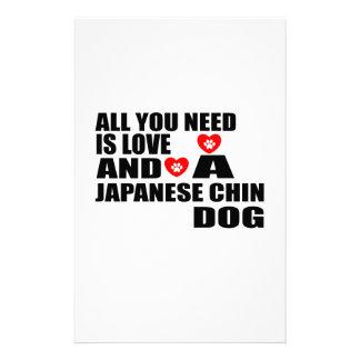 Papelería Todos usted necesita diseños de los perros de CHIN