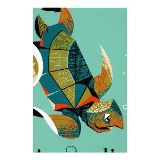 Papelería Tortuga de mar australiana alegre